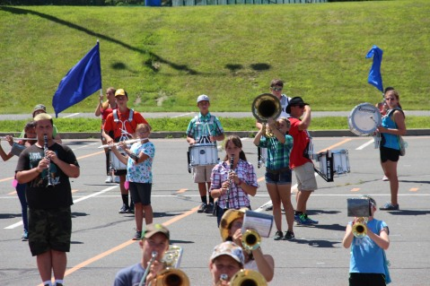 Tamaqua Raider Band Camp, Middle School Parking Lot, Tamaqua, 8-13-2015 (315)