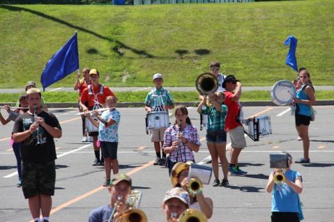 Tamaqua Raider Band Camp, Middle School Parking Lot, Tamaqua, 8-13-2015 (315)