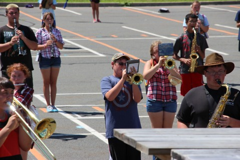 Tamaqua Raider Band Camp, Middle School Parking Lot, Tamaqua, 8-13-2015 (334)