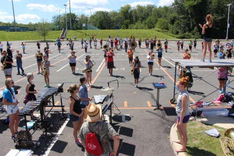 Tamaqua Raider Band Camp, Middle School Parking Lot, Tamaqua, 8-13-2015 (368)