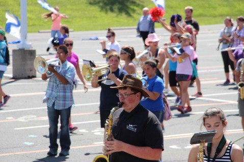 Tamaqua Raider Band Camp, Middle School Parking Lot, Tamaqua, 8-13-2015 (402)