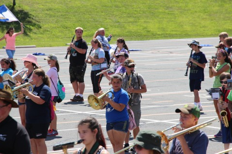 Tamaqua Raider Band Camp, Middle School Parking Lot, Tamaqua, 8-13-2015 (405)