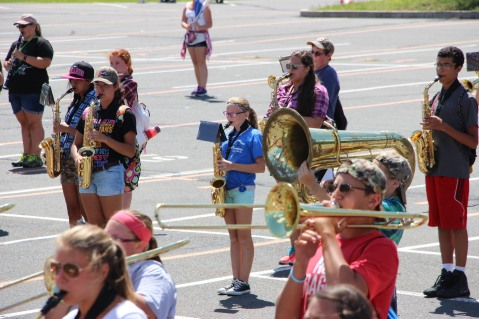 Tamaqua Raider Band Camp, Middle School Parking Lot, Tamaqua, 8-13-2015 (413)