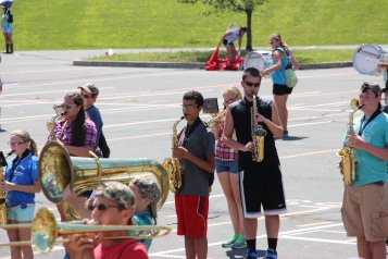 Tamaqua Raider Band Camp, Middle School Parking Lot, Tamaqua, 8-13-2015 (415)