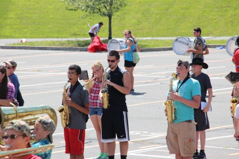 Tamaqua Raider Band Camp, Middle School Parking Lot, Tamaqua, 8-13-2015 (416)