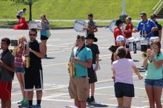 Tamaqua Raider Band Camp, Middle School Parking Lot, Tamaqua, 8-13-2015 (417)