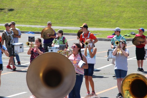 Tamaqua Raider Band Camp, Middle School Parking Lot, Tamaqua, 8-13-2015 (424)