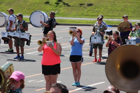 Tamaqua Raider Band Camp, Middle School Parking Lot, Tamaqua, 8-13-2015 (427)