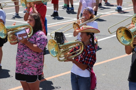 Tamaqua Raider Band Camp, Middle School Parking Lot, Tamaqua, 8-13-2015 (436)