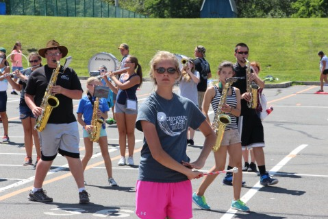 Tamaqua Raider Band Camp, Middle School Parking Lot, Tamaqua, 8-13-2015 (449)
