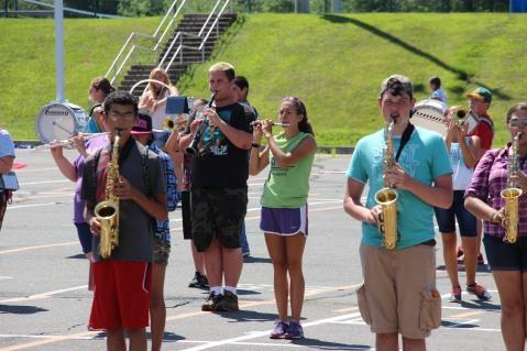 Tamaqua Raider Band Camp, Middle School Parking Lot, Tamaqua, 8-13-2015 (452)