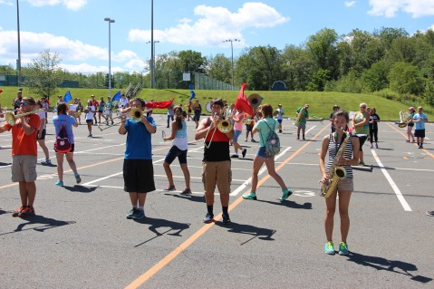 Tamaqua Raider Band Camp, Middle School Parking Lot, Tamaqua, 8-13-2015 (47)