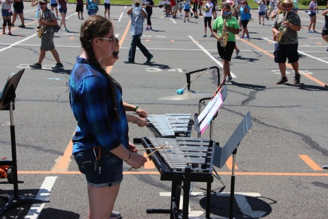 Tamaqua Raider Band Camp, Middle School Parking Lot, Tamaqua, 8-13-2015 (493)