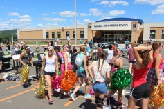 Tamaqua Raider Band Camp, Middle School Parking Lot, Tamaqua, 8-13-2015 (517)