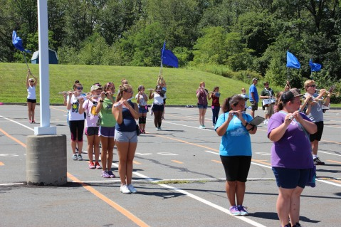 Tamaqua Raider Band Camp, Middle School Parking Lot, Tamaqua, 8-13-2015 (66)