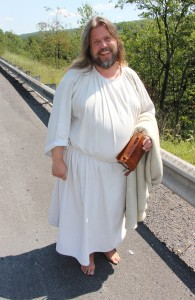 The Jesus Guy, on SR54 Between Shenandoah and Mahanoy Township, 8-15-2015 (2)