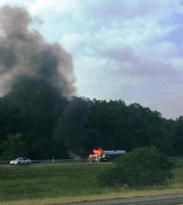 Tractor Trailer Fire, Interstate 81 southbound, Hazleton, 8-19-2015 (4)