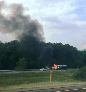 Tractor Trailer Fire, Interstate 81 southbound, Hazleton, 8-19-2015 (6)