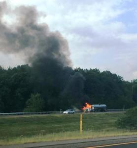 Tractor Trailer Fire, Interstate 81 southbound, Hazleton, 8-19-2015 (6)