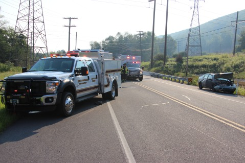 Two Vehicle Accident, S Turn, SR54, Nesquehoning, 8-17-2015 (1)