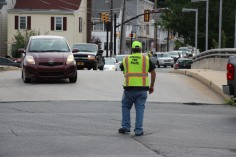 Water Main Leak Repair, 500 Block Pine St, Fire Police, SR309 North, Tamaqua, 8-6-2015 (22)