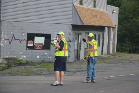 Water Main Leak Repair, 500 Block Pine St, Fire Police, SR309 North, Tamaqua, 8-6-2015 (48)