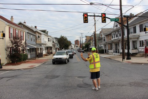 Water Main Leak Repair, 500 Block Pine St, Fire Police, SR309 North, Tamaqua, 8-6-2015 (60)