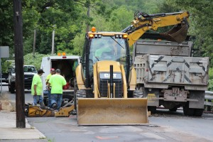 Water Main Leak Repair, 500 Block Pine St, SR309 North, Tamaqua, 8-6-2015 (1)