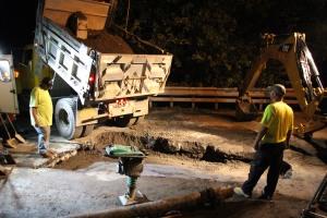 Water Main Leak Repair, 500 Block Pine St, SR309 North, Tamaqua, 8-6-2015 (9)