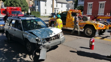 Woman Taken to Hospital After Rear Ending Parked Car, West Broad Street, Tamaqua, 8-21-2015 (13)
