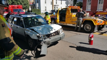Woman Taken to Hospital After Rear Ending Parked Car, West Broad Street, Tamaqua, 8-21-2015 (14)