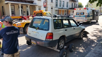 Woman Taken to Hospital After Rear Ending Parked Car, West Broad Street, Tamaqua, 8-21-2015 (20)
