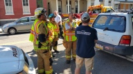 Woman Taken to Hospital After Rear Ending Parked Car, West Broad Street, Tamaqua, 8-21-2015 (21)