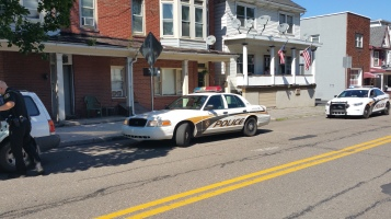 Woman Taken to Hospital After Rear Ending Parked Car, West Broad Street, Tamaqua, 8-21-2015 (6)