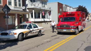 Woman Taken to Hospital After Rear Ending Parked Car, West Broad Street, Tamaqua, 8-21-2015 (8)