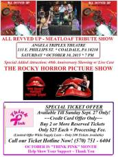 10-10-2015, Tribute to Rock and Classic Cult Movie, Angela Triplex Theatre, Coaldale (2)