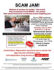 10-15-2015, Scam Alert Seminar fore Retirees and Seniors, Shenandoah Senior Community Center, Shenandoah