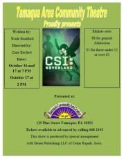 10-16, 17-2015, Performance of CSI Neverland, TACT, Tamaqua Community Arts Center, Tamaqua