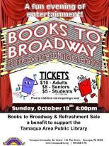 10-18-2015, Books to Broadway show, Tamaqua Community Arts Center, Tamaqua