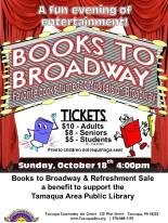 10-18-2015, Books to Broadway show, Tamaqua Community Arts Center, Tamaqua