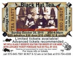 10-25-2015, Black Hat Tea, Summit Hill Heritage Center, Summit Hill