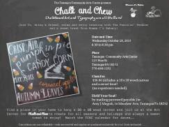 10-28-2015, Chalk and Chew, Tamaqua Community Arts Center, Tamaqua