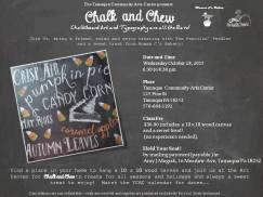 10-28-2015, Chalk and Chew, Tamaqua Community Arts Center, Tamaqua