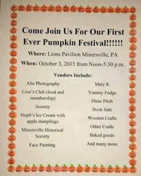 10-3-2015, Pumpkin Festival, Lions Pavilion, Minersville
