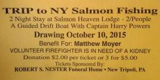 10-3-2015, Raffle, Benefit and Poker Run for Firefighter Matthew Moyer, West Penn Rod and Gun Club, West Penn