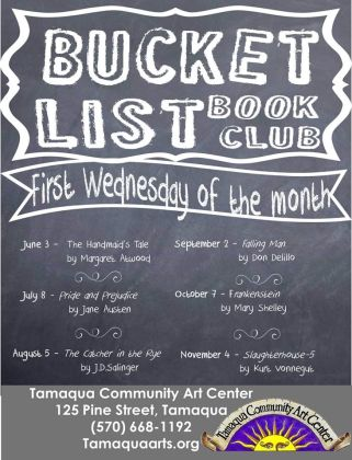 10-7, 11-4-2015, Bucket List Book Club, Community Arts Center, Tamaqua