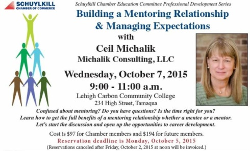10-7-2015, Building a Mentoring Relationship & Managing Expectations, LCCC, Tamaqua