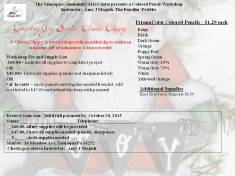 11-19-2015, Colored Pencil Workshop, theme Country Joy Santa Classic Clippy, Tamaqua Community Arts Center, Tamaqua (1)