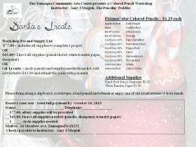 11-7-2015, Colored Pencil Workshop, theme Santa's Treats, Tamaqua Community Arts Center, Tamaqua (2)