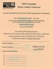 9-11-2015, Schuylkill United Way Campaign Kick-Off Breakfast, Penn State, Schuylkill Haven